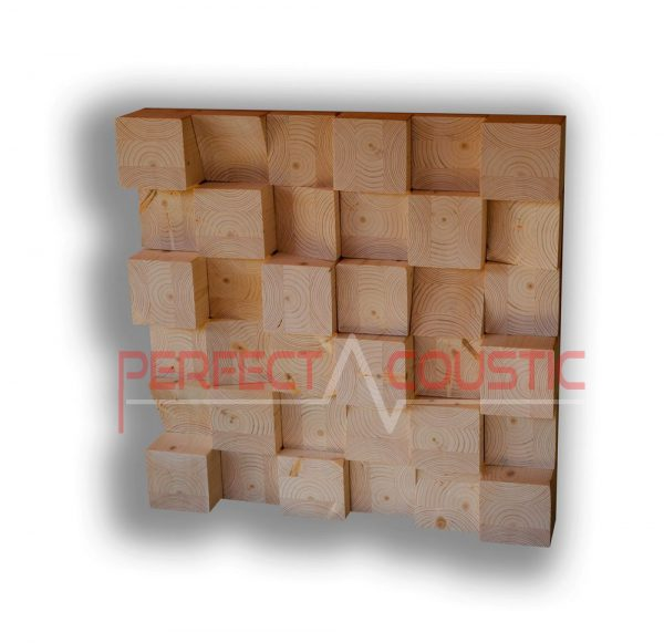 Cubic acoustic diffuser
