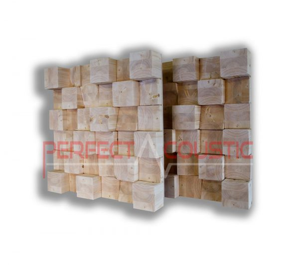 Cubic acoustic diffuser natur (2)