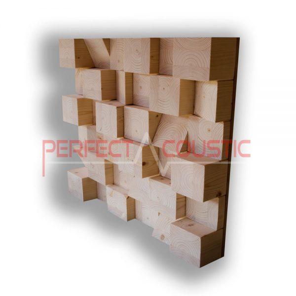 Cubic acoustic diffuser natur