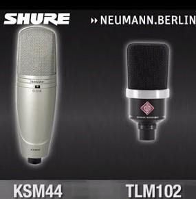 Micrófonos Shure ou Neumann