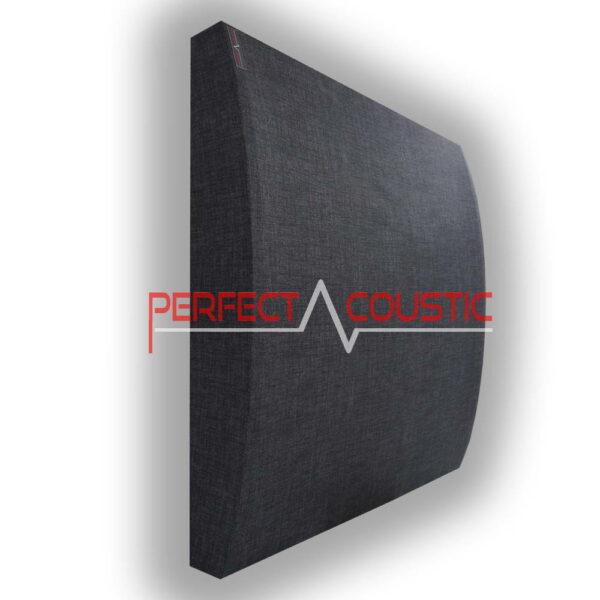 Panel 3D en gris oscuro