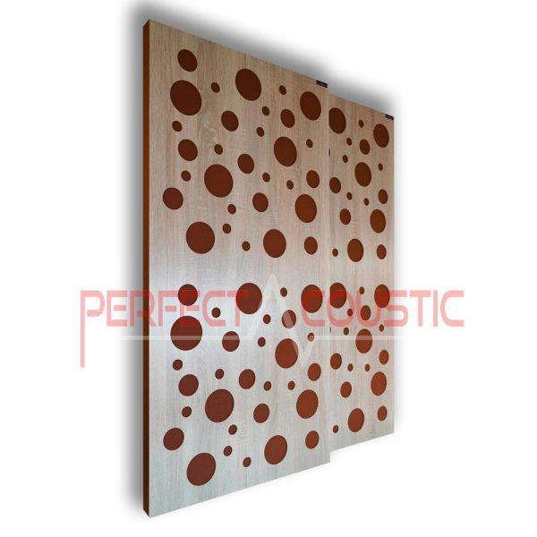 Paneles acústico con difusor tipo color
