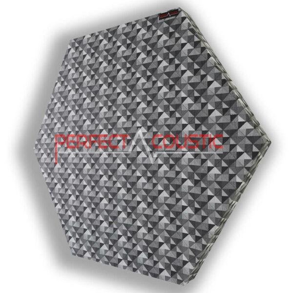 Panel acústico hexagonal estampado a cuadros