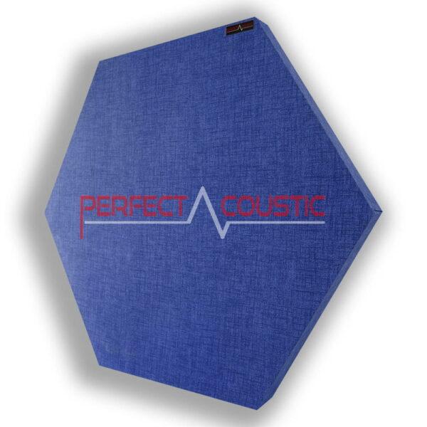 Panel acústico hexagonal estampado azul