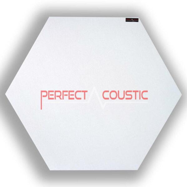 Panel acústico hexagonal estampado blanco