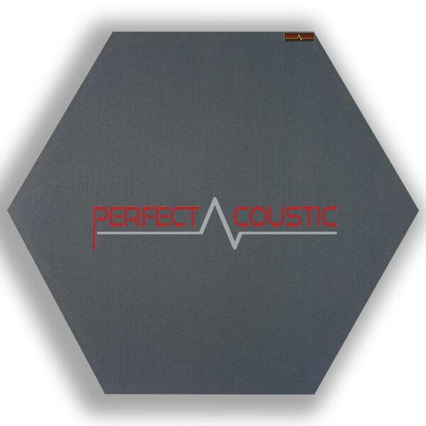 Panel acústico hexagonal estampado gris 1.