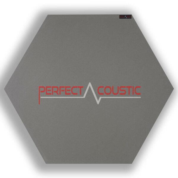 Panel acústico hexagonal estampado gris 2.