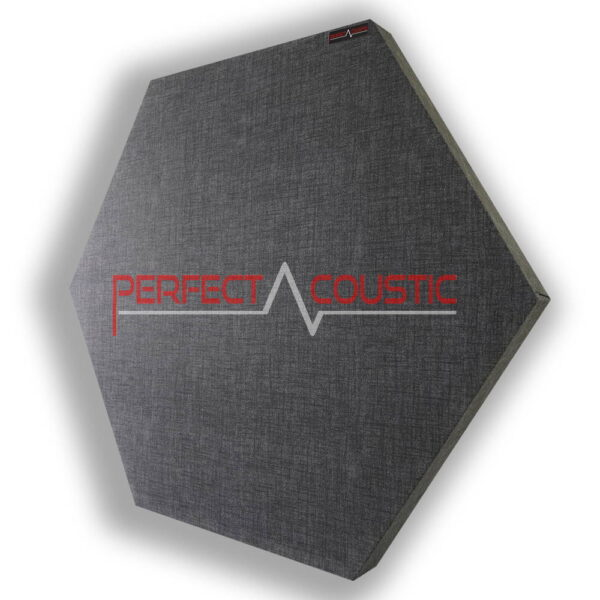 Panel acústico hexagonal estampado gris