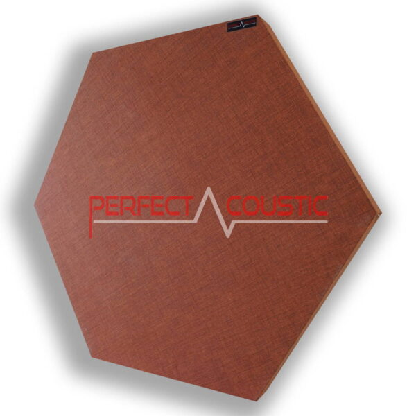 Panel acústico hexagonal estampado marrón
