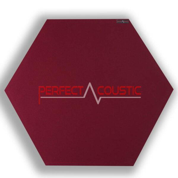 Panel acústico hexagonal estampado rojo