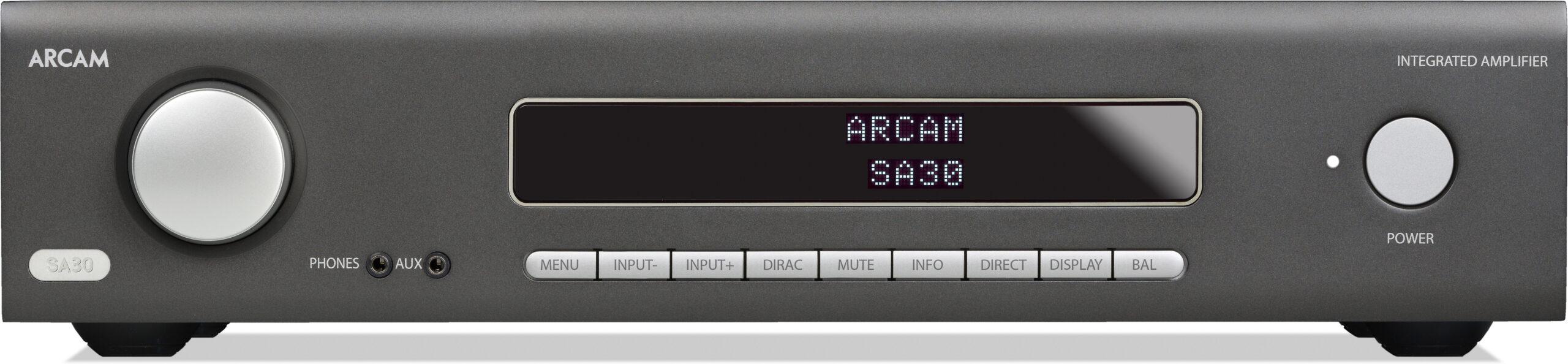 Panel frontal del amplificador Arcam SA30