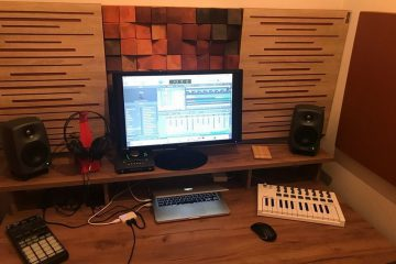 Perfect Acoustic sound absorbing panel in a tiny house studio