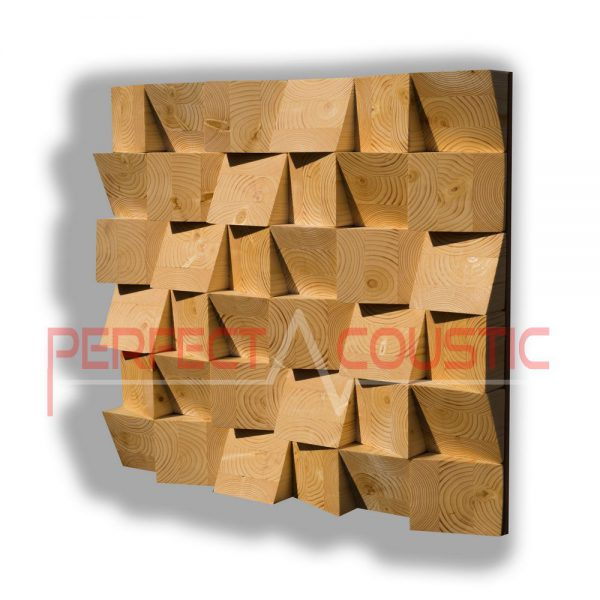 Wood acoustic diffuser