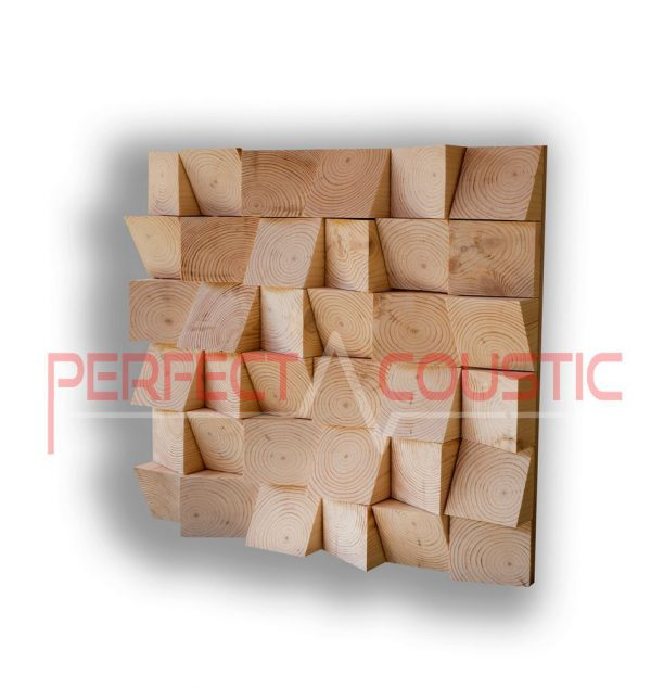Wood acoustic diffuser type