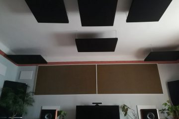 absorber placed in the cinema room