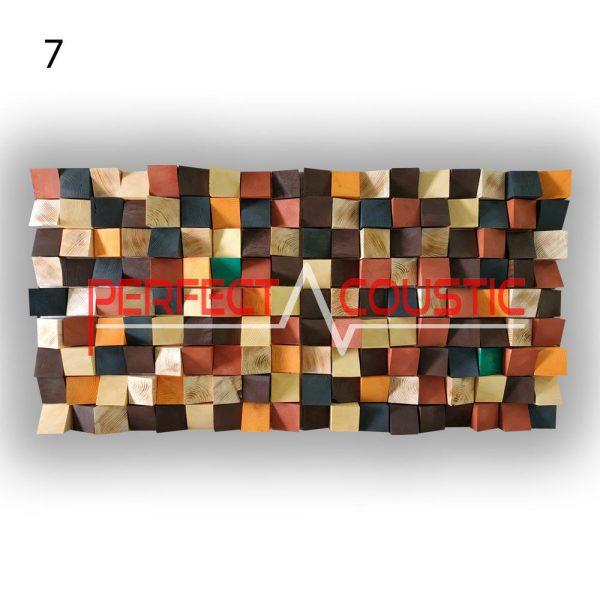 art acoustic diffuser 7 color samples, front. (2)