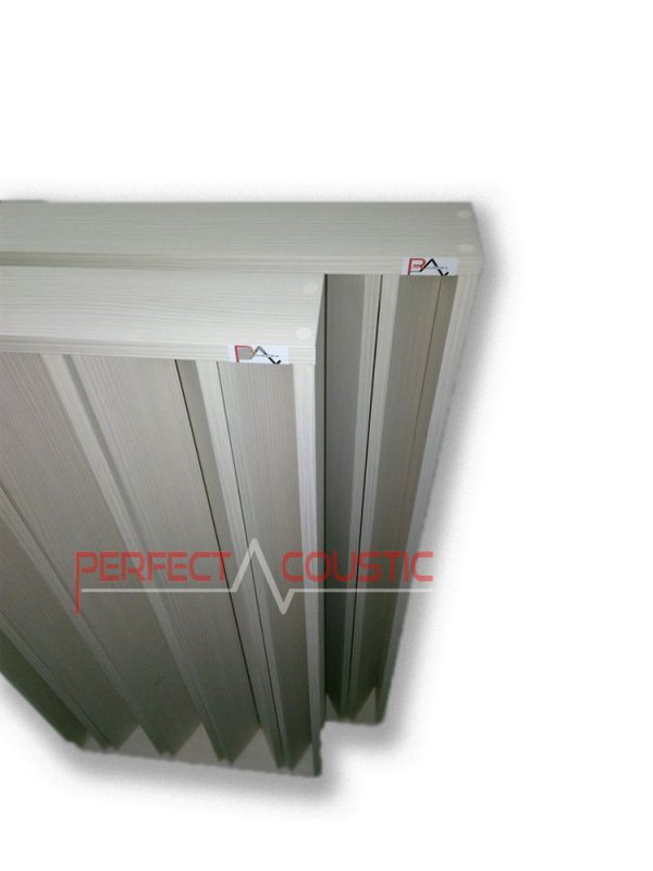 columnar acoustic diffuser white