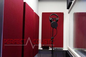 gestión acústica de la sala de grabación.