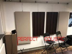 hangelnyelő panel egy studioban