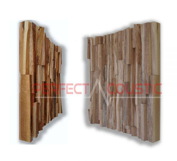 oak wood acoustic diffuser pattern