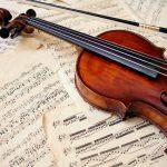 panel acústico impreso violín