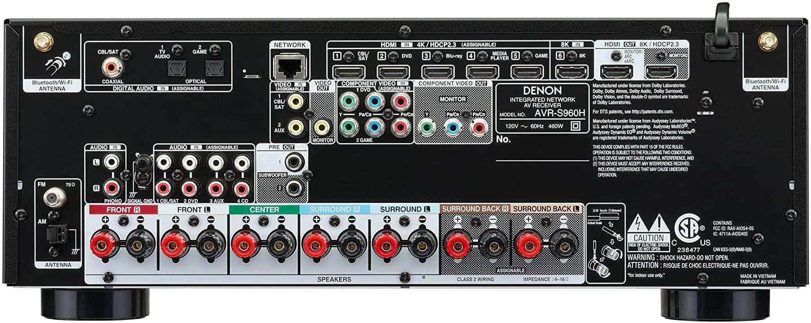 panel trasero s960h