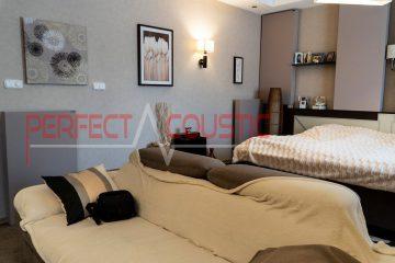 sala de estar con amortiguadores acústicos (2)